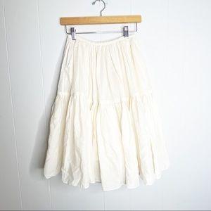 Loup Charmant | Organic Cotton Tiered Skirt XS